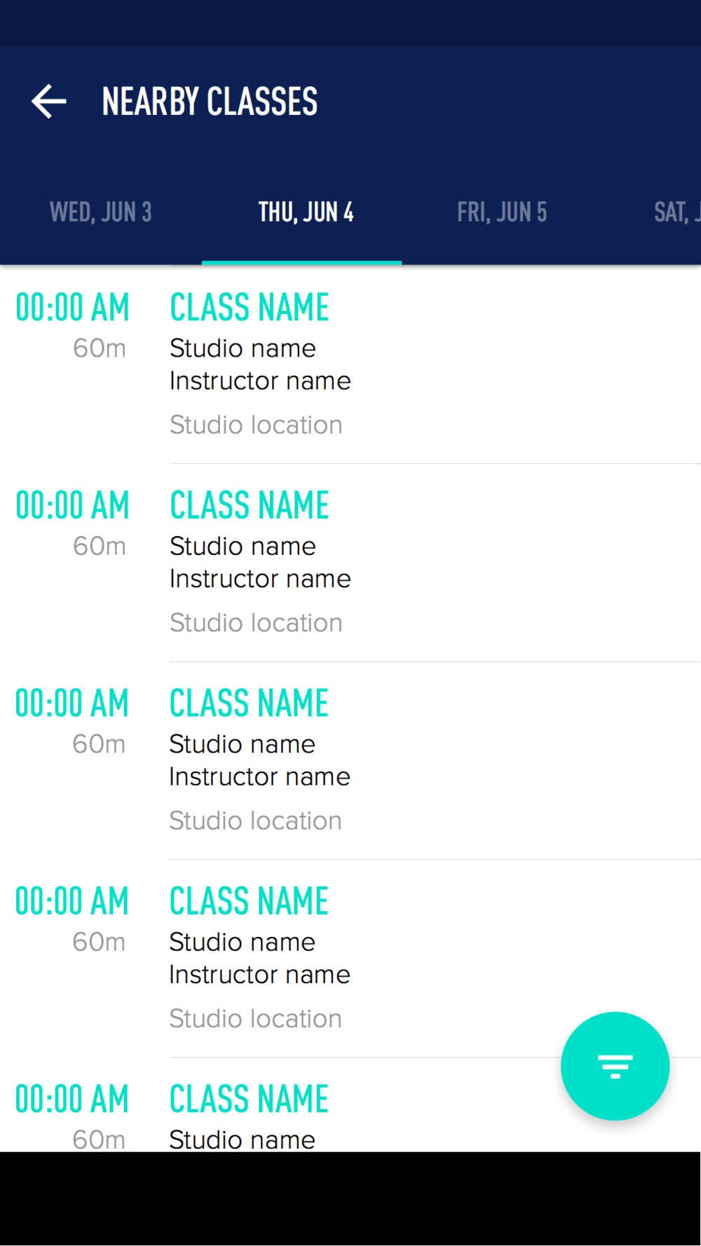 Designing ClassPass for Android